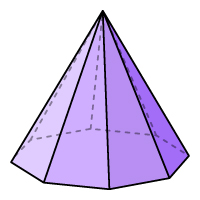 Octagon Pyramid - Color