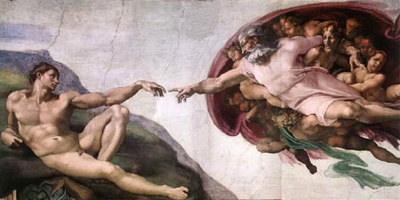 Painting - Creation of Adam - Michelangelo