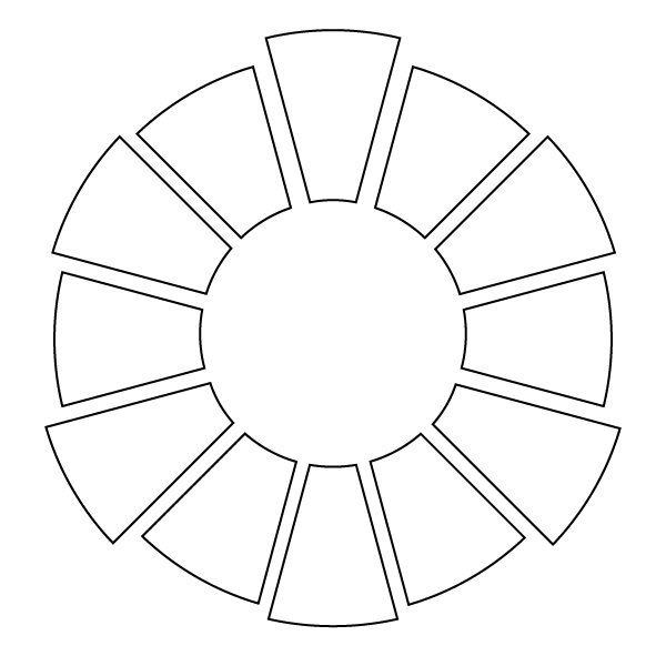 Color Wheel - Black and White