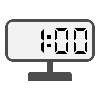 Digital Clock 01:00