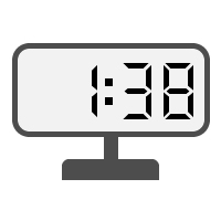 Digital Clock 01:38