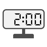 Digital Clock 02:00
