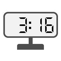 Digital Clock 03:16