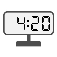 Digital Clock 04:20