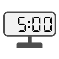 Digital Clock 05:00