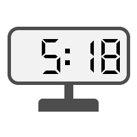 Digital Clock 05:18