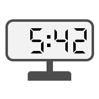 Digital Clock 05:42