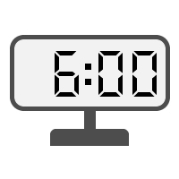 Digital Clock 06:00
