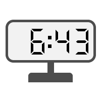 Digital Clock 06:43