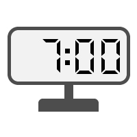 Digital Clock 07:00