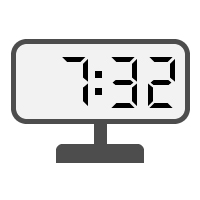 Digital Clock 07:32