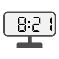 Digital Clock 08:21