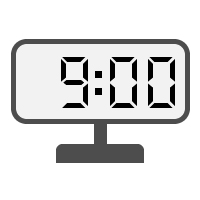 Digital Clock 09:00