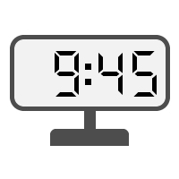 Digital Clock 09:45