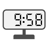 Digital Clock 09:58