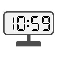 Digital Clock 10:59