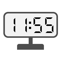 Digital Clock 11:55
