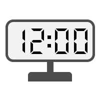 Digital Clock 12:00