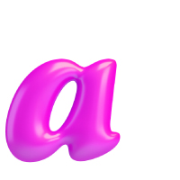 Letter A - Color - Lowercase
