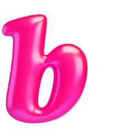 Letter B - Color - Lowercase