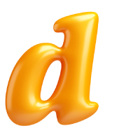 Letter D - Color - Lowercase