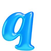 Letter Q - Color - Lowercase