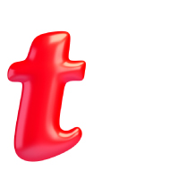 Letter T - Color - Lowercase