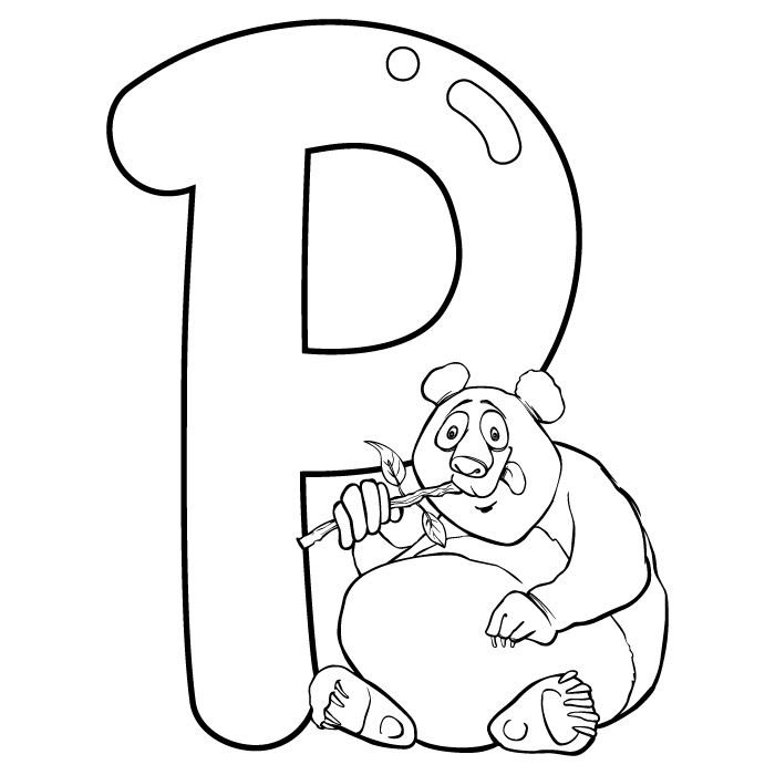 Coloring Letter P