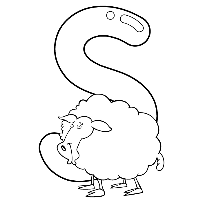 Coloring Letter S