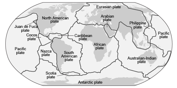 Tectonic Plates With Labels