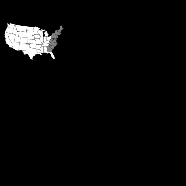 Thirteen Colonies - No Labels