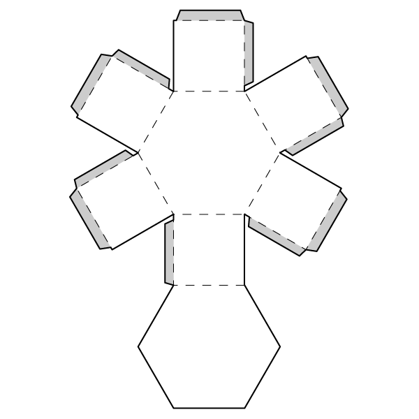 Hexagonal Prism Net