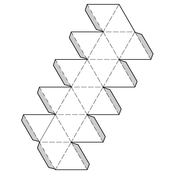 Icosahedron Net