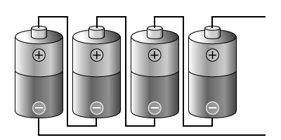 Batteries In Series With Labels