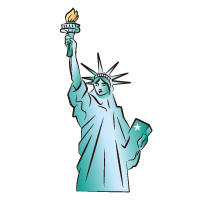 American - Statue Of Liberty