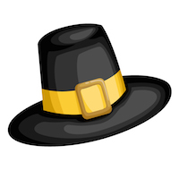 Thanksgiving - Pilgrim Hat