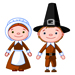 Thanksgiving - Pilgrim Couple - Small