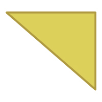 Right Triangle Flipped Diagonally - Color