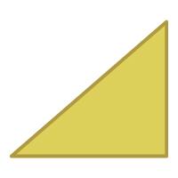 Right Triangle Flipped Horizontally - Color