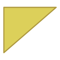 Right Triangle Flipped Vertically - Color
