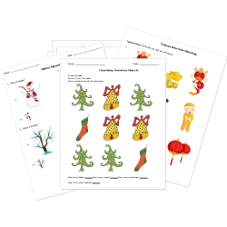 Printable Christmas and Winter Holidays Worksheets