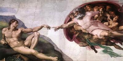 Painting - Creation of Adam - Michelangelo