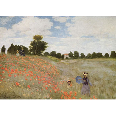 Painting - Poppies in a Field - Claude Monet