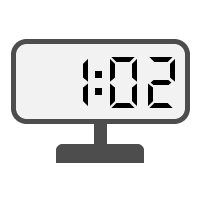 Digital Clock 01:02