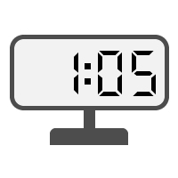 Digital Clock 01:05
