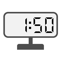 Digital Clock 01:50
