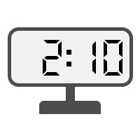 Digital Clock 02:10