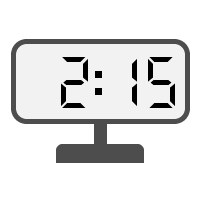 Digital Clock 02:15