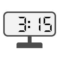 Digital Clock 03:15