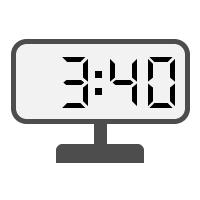Digital Clock 03:40